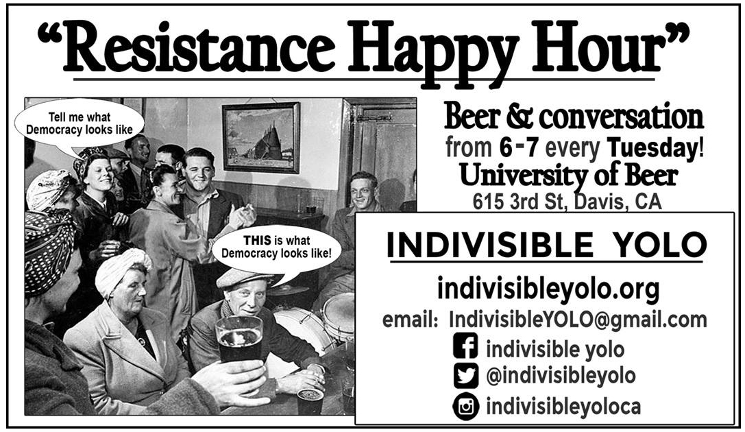 Indivisible Yolo Happy Hour
